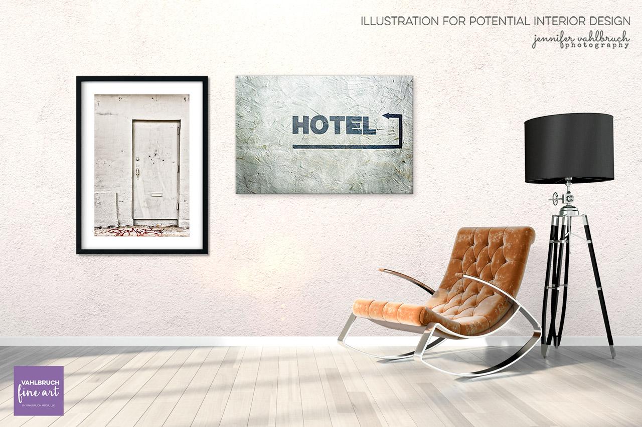 Illustration - White Door - Jennifer Vahlbruch